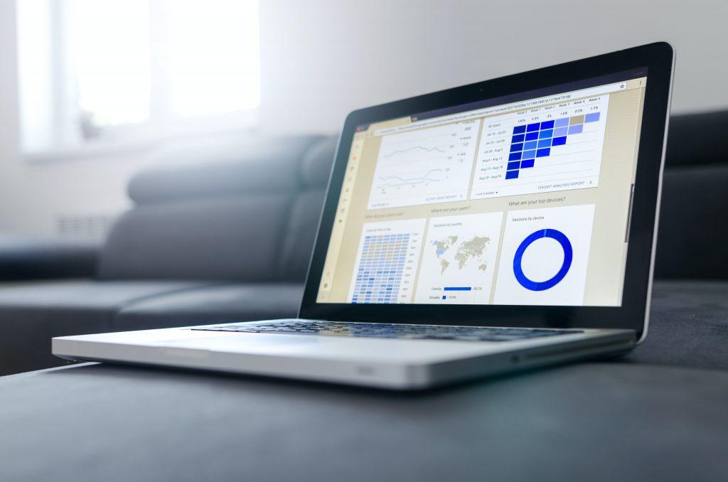 Photo of spreadsheet on laptop